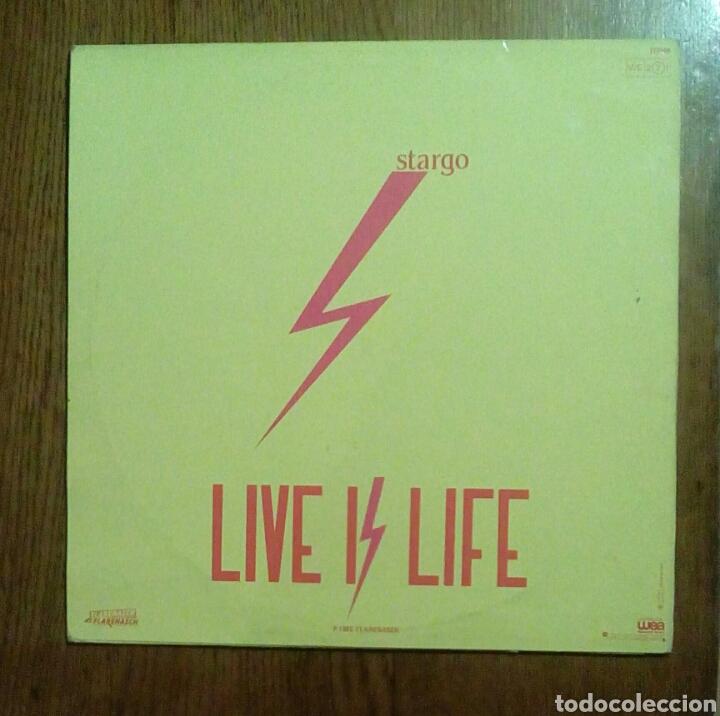 Discos de vinilo: Stargo - Live is life, Wea, 1985. France. - Foto 2 - 150040468