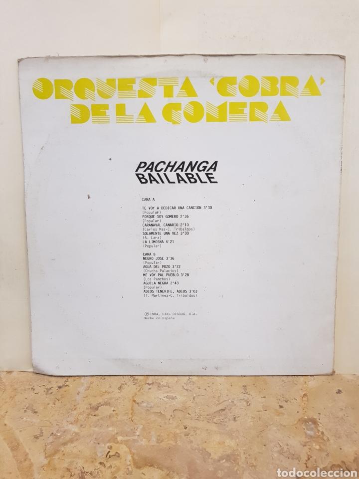 Discos de vinilo: ORQUESTA COBRA DE LA GOMERA PACHANGA BAILABLE LP VINILO - Foto 2 - 150070085