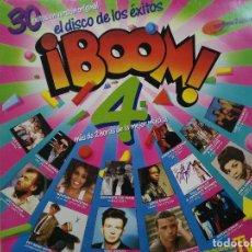 Discos de vinilo: ¡BOOM! 4 - EL DISCO DE LOS ÉXITOS - DOBLE LP. DEL SELLO EMI 1988. Lote 150091798