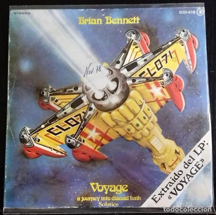 BRIAN BENNETT - VOYAGE ( A JOURNEY INTO DISCOID FUNK) / SOLSTICE SG ED. ESPAÑOLA 1978 (Música - Discos - Singles Vinilo - Electrónica, Avantgarde y Experimental)