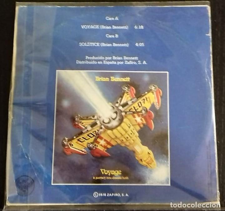 Discos de vinilo: BRIAN BENNETT - VOYAGE ( A JOURNEY INTO DISCOID FUNK) / SOLSTICE SG ED. ESPAÑOLA 1978 - Foto 2 - 150094374