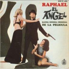 Discos de vinilo: DISCO VINILO - RAPHAEL - MUSICA PELICULA EL ANGEL - BANDA SONORA ORIGINAL - VER FOTO REVERSO -. Lote 150101874