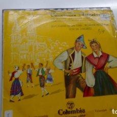 Discos de vinilo: E P ( VINILO) DE AGRUPACION LANGREANA CORO SANTIAGUIN . Lote 150128170
