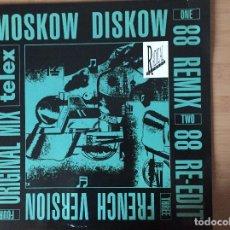 Discos de vinilo: TELEX. MOSCOW DISKOW 88 REMIX (VINILO MAXI 45 1988). Lote 150133986