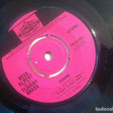 Discos de vinilo: HERB ALPERT AND THE TIJUANA BRASS - MAME / OUR DAY WILL COME - SINGLE UK 1966 - PYE. Lote 150141982