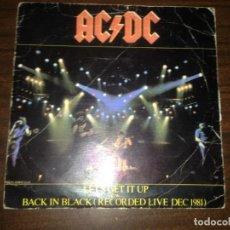 Disques de vinyle: EP DISCO VINILO ACDC AC DC LET´S GET IT UP + BACK IN BLACK. Lote 150143954