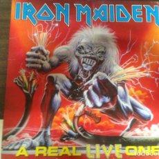 Discos de vinilo: LP DISCO VINILO IRON MAIDEN A REAL LIVE ONE. Lote 150144638