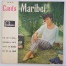 Discos de vinilo: EP / MARIBEL / FIN DE SEMANA +3 / FONTANA 467 727 TE / 1962. Lote 150152890