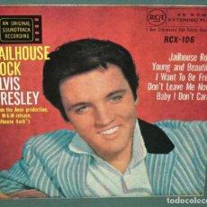 Disques de vinyle: ELVIS PRESLEY - JAILHOUSE ROCK 1957 RARO EP 5 TEMAS EDT RCA UK 1967 , TODO EXC. Lote 150161378