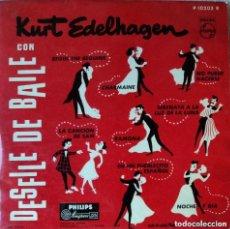 Discos de vinilo: KURT EDELHAGEN UND SEIN ORCHESTER CON DESFILE DE BAILE (ESPAÑA,1958. 10 PULGADAS). Lote 150177866