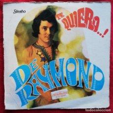 Discos de vinilo: DE RAYMOND -TE QUIERO...! LP 1971 ULTRARARO SOLO EDICION AMERICANA - POP SOUL FUNK . Lote 150200994