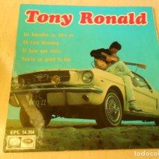 Discos de vinilo: TONY RONALD, EP, UN BOCADITO TU, OTRO YO + 3, AÑO 1967. Lote 150206442