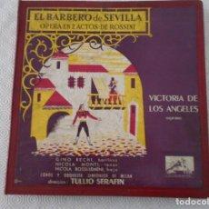 Discos de vinilo: EL BARBERO DE SEVILLA. OPERA EN 2 ACTOS DE ROSSINI. VICTORIA DE LOS ANGELES, SOPRANO. GINO BECCHI, N. Lote 150212202