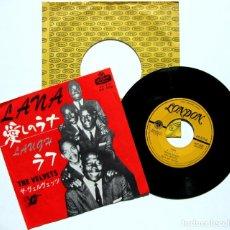 Discos de vinilo: THE VELVETS - LANA / LAUGH - SINGLE LONDON RECORDS 1963 JAPAN (EDICIÓN JAPONESA) DOO WOP BPY. Lote 150214130