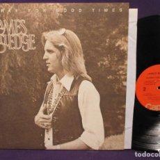 Discos de vinilo: JAMES RUTLEDGE - HOORAY FOR GOOD TIMES 73 / BLOODROCK, SOUTHERN ROCK TEXAS,RARO, ORG USA, IMPECABLE. Lote 150218354