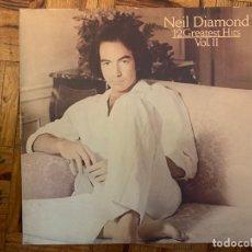 Discos de vinilo: NEIL DIAMOND ?– 12 GREATEST HITS, VOL. II SELLO: CBS ?– CBS 85844, CBS ?– TC 38068 FORMATO: VINYL. Lote 150236718