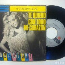 Discos de vinilo: BANDE A PART - LE COURANT PASSE... TE QUIERO CON TODO MI CORAZON - SINGLE 1984 - ARIOLA. Lote 150246570