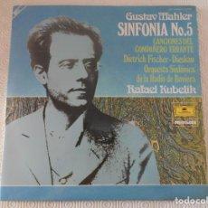 Discos de vinilo: GUSTAV MAHLER. SINFONIA NO. 5. CANCIONES DEL COMPAÑERO ERRANTE. DIETRICH FISCHER-DIESKAU. ORQUESTA S. Lote 150252978