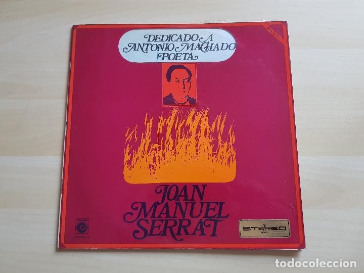 JOAN MANUEL SERRAT - DEDICADO A ANTONIO MACHADO POETA - LP - VINILO - ZAFIRO - 1969 (Música - Discos - LP Vinilo - Solistas Españoles de los 70 a la actualidad)