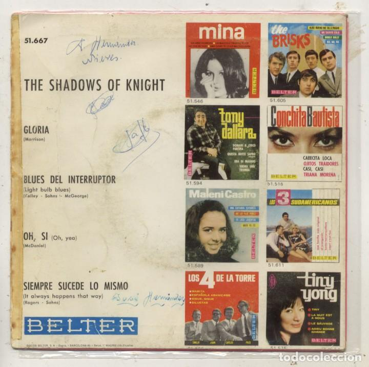 Discos de vinilo: THE SHADOWS OF KNIGHT / GLORIA / EP 45 RPM / BELTER SPAIN SPANISH ESPAÑA - Foto 2 - 150302194