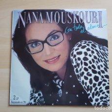 Discos de vinilo: NANA MOUSKOURI - CON TODA EL ALMA - DOBLE LP - VINILO - POLYGRAM - 1986. Lote 150304782