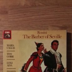 Discos de vinilo: THE BARBER OF SEVILLE. ROSSINI. 2 CASSETTES. Lote 150305430