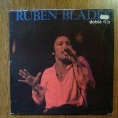 Discos de vinilo: RUBEN BLADES - DOBLE FILO, MANZANA, 1989. SPAIN.. Lote 150312526