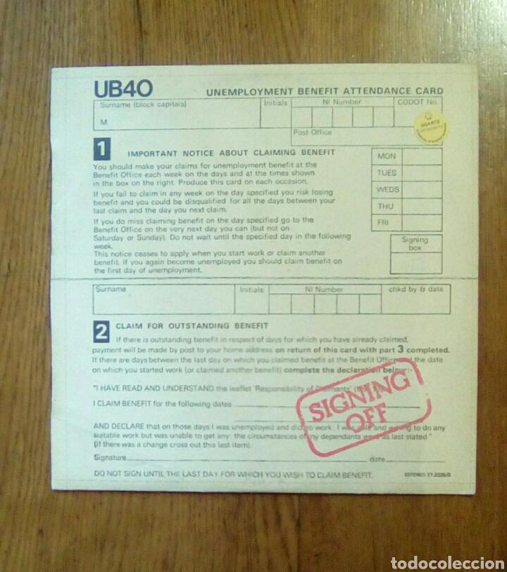 UB 40 - SIGNING OFF, GRADUATE RECORDS, 1980. SPAIN. (Música - Discos - LP Vinilo - Reggae - Ska)