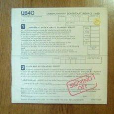 Discos de vinilo: UB 40 - SIGNING OFF, GRADUATE RECORDS, 1980. SPAIN.. Lote 150312553