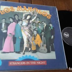 Discos de vinilo: LOS MANOLOS LP STRANGERS IN THE NIGHT MADE IN SPAIN 1991. Lote 150314266
