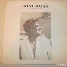 Discos de vinilo: SINGLE KIM ROSS. CAN'T TAKE MY EYES OFF YOU. MAX MUSIC 1987 (PROBADO Y BIEN, SEMINUEVO). Lote 150339910
