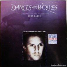 Discos de vinilo: JOHN BARRY-DANCES WITH WOLVES (ORIGINAL MOTION PICTURE SOUNDTRACK), EPIC-EPC 467591 1. Lote 150340682