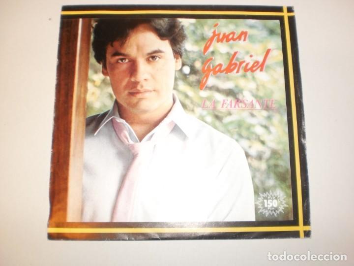 SINGLE JUAN GABRIEL. LA FARSANTE. CARAY.ARIOLA 1983 SPAIN (PROBADO Y BIEN, SEMINUEVO) (Música - Discos - Singles Vinilo - Grupos y Solistas de latinoamérica)