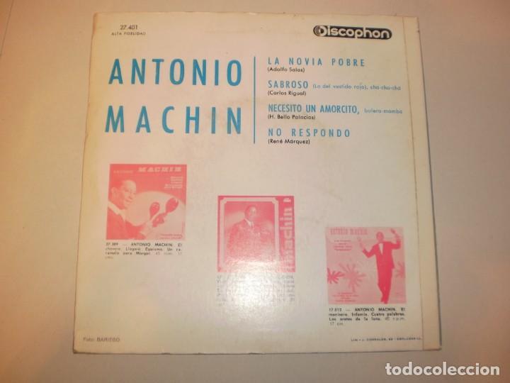 Discos de vinilo: antonio machín. la novia pobre. sabroso. necesito un amorcito. no respondo. discophon1965 spain - Foto 2 - 150342750