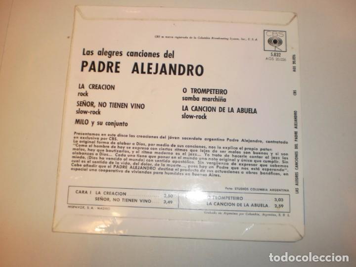 Discos de vinilo: el padre alejandro. la creación. señor, no tienen vino. o trompeteiro. la canción de la abuela 1962 - Foto 2 - 150343778