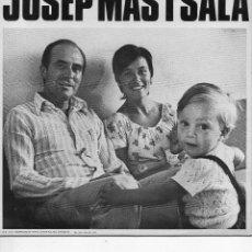Disques de vinyle: JOSEP MAS I SALA, SG, DISTRICTE VI É + JOSEP MAS I SALA, AÑO 1973, BARNAFON S. E. 11-EDICIO ESPECIAL. Lote 150370322