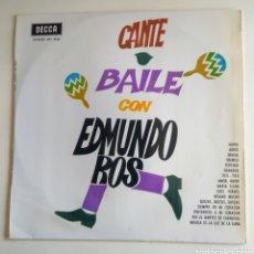 Discos de vinilo: L.P. CANTE BAILE CON EDMUNDO ROS. 1967.. Lote 150373434