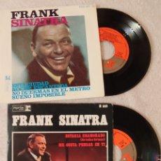 Discos de vinilo: 2 SINGLE FRANK SINATRA. Lote 150479941