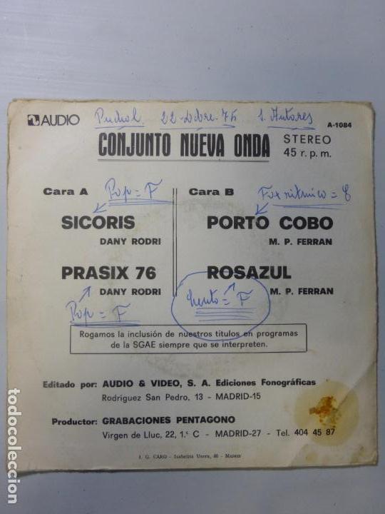 Discos de vinilo: CONJUNTO NUEVA ONDA - SICORIS PRASIX 76 +2 EP - SPANISH GROOVE SOUL MOD 1975 - - Foto 3 - 150481854