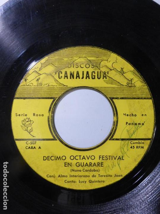 CONJUNTO ALMA INTERIORANA DE TERESIN JAEN CANTA:LUCY QUINTERO-DÉCIMO OCTAVO FESTIVAL EN GUARARE-1966 (Música - Discos - Singles Vinilo - Grupos y Solistas de latinoamérica)