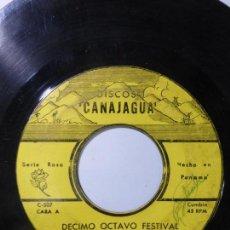 Discos de vinilo: CONJUNTO ALMA INTERIORANA DE TERESIN JAEN CANTA:LUCY QUINTERO-DÉCIMO OCTAVO FESTIVAL EN GUARARE-1966. Lote 150484786