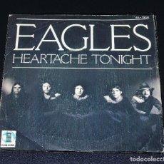 Discos de vinilo: EAGLES --HEARTACHE TONIGHT & TEENAGE JAIL. Lote 150484902