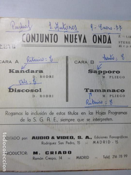 Discos de vinilo: CONJUNTO NUEVA ONDA - EP ZETA 1976 kandara/ sapporo/ discosol/ tamanaco - SPANISH GROOVE- MUY RARO - Foto 3 - 150486422