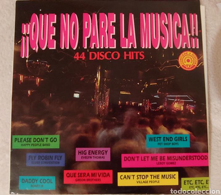 QUE NO PARE LA MUSICA 44 DISCO HITS 1992. TRES DISCOS (Música - Discos - LP Vinilo - Disco y Dance)