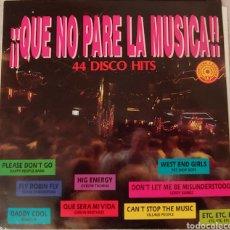 Discos de vinilo: QUE NO PARE LA MUSICA 44 DISCO HITS 1992. TRES DISCOS. Lote 150491572