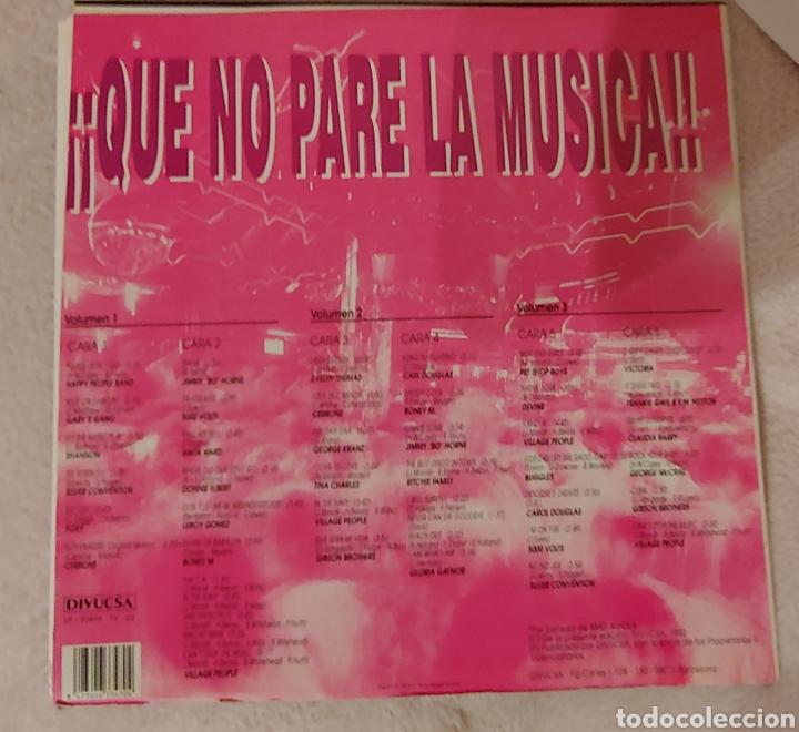 Discos de vinilo: QUE NO PARE LA MUSICA 44 Disco hits 1992. TRES DISCOS - Foto 2 - 150491572