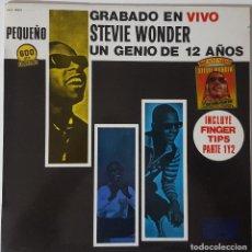 Discos de vinilo: STEVIE WONDER...GRABADO EN VIVO. UN GENIO DE 12 AÑOS.(MOTOWN  1983.) SPAIN. Lote 150495946