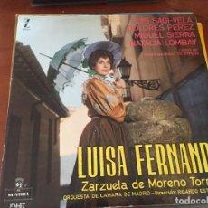 Discos de vinilo: VINILO LUISA FERNANDA - ZARZUELA DE MORENO TORROBA. Lote 150523506