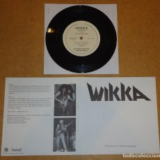 Discos de vinilo: WIKKA - EARTHDOGS / CHAINED LIGHTENING - 7'' [INCLUYE FANZINE SNAKEPIT #20 DE 122 PÁGS.]. Lote 150526882