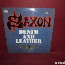 Discos de vinilo: LP SAXON - DENIM AND LEATHER. Lote 175466360